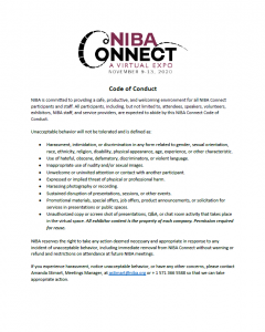 NIBA Connect Code of Conduct