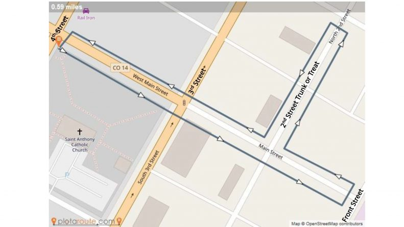 Trick or Treat Street Map