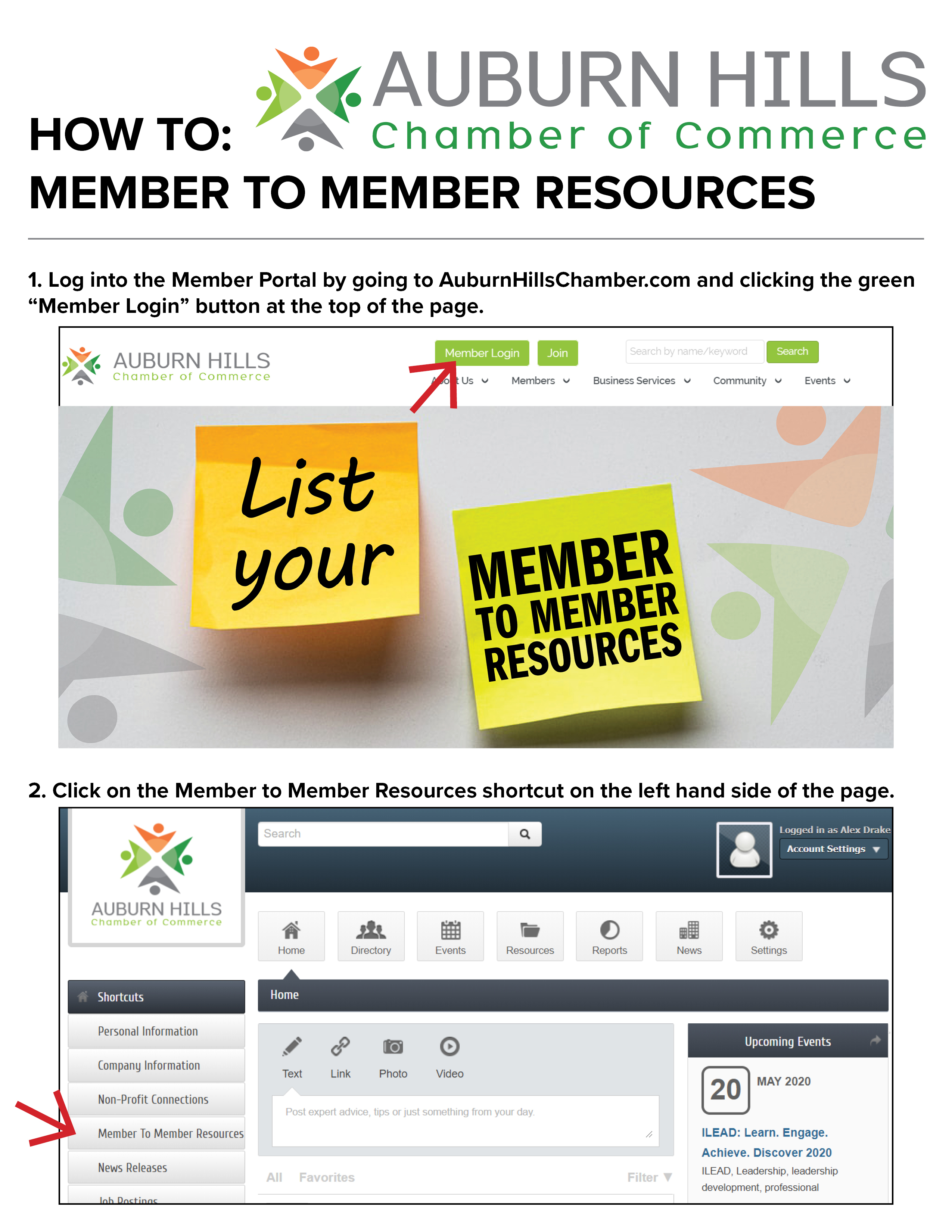 Member to Member Portal How To