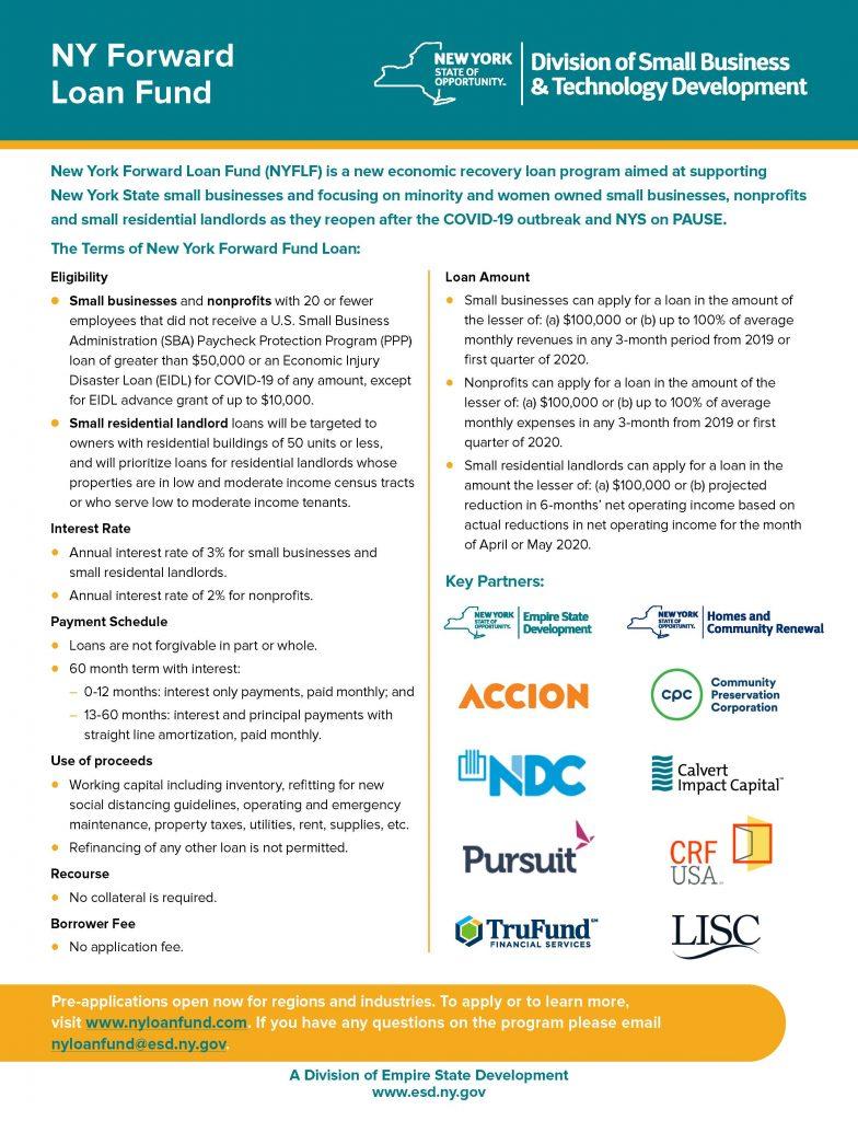 NY Forward Loan Fund MWBE Flyer