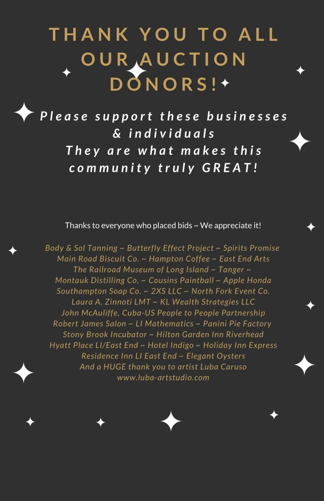 Thank you to all our auction donors!