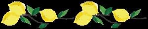 Lemon Cluster Horizontal Line