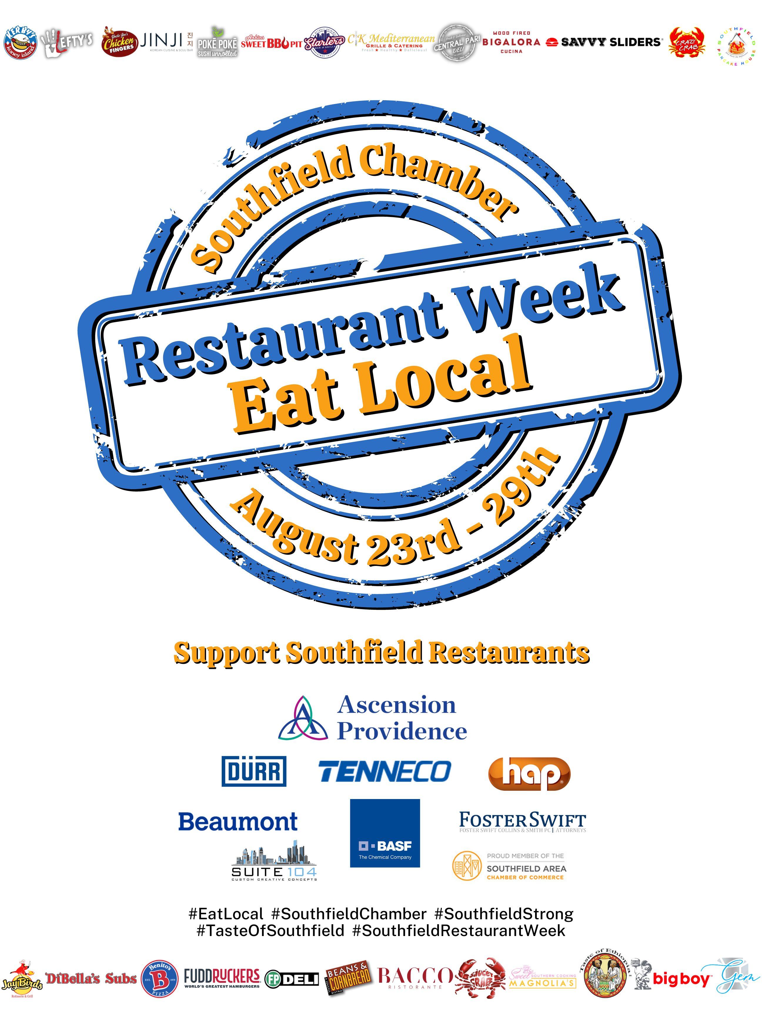 Restaurant week flyer