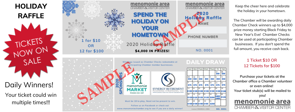 Holiday Raffle Website Banner