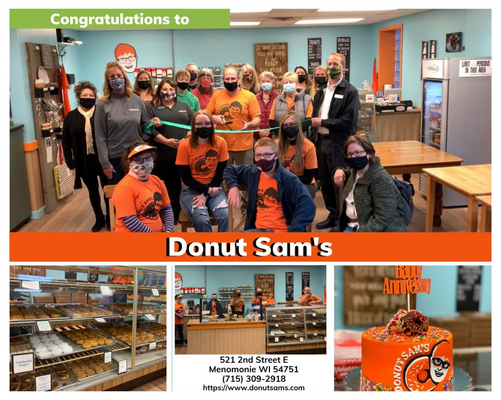 Donut Sam's Ribbon Cutting Congratulations