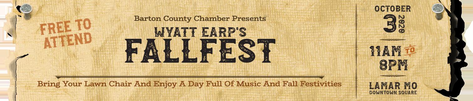 Wyatt Earp Fallfest - Lamar Missouri