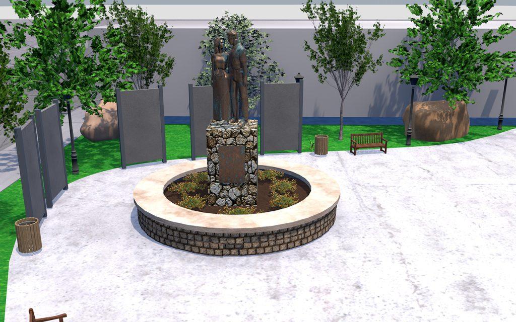 Future Wyatt Earp Park Lamar Mo - Statue