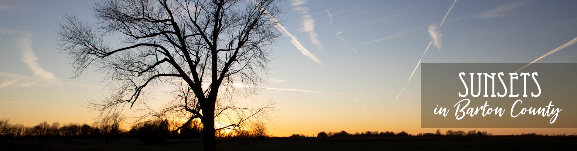 Winter Sunsets In Barton County Missouri