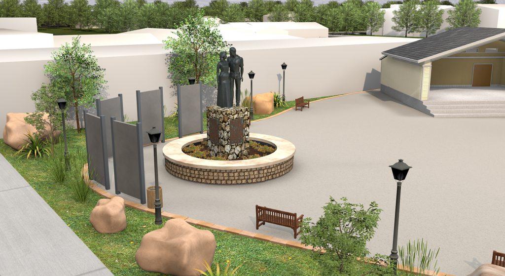 Lamar Missouri - Future Wyatt Earp Park Statue Close Up