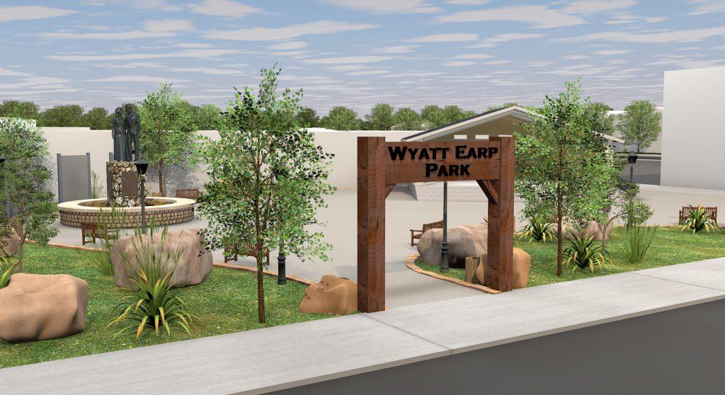 Lamar Missouri - Future Wyatt Earp Park Entranct