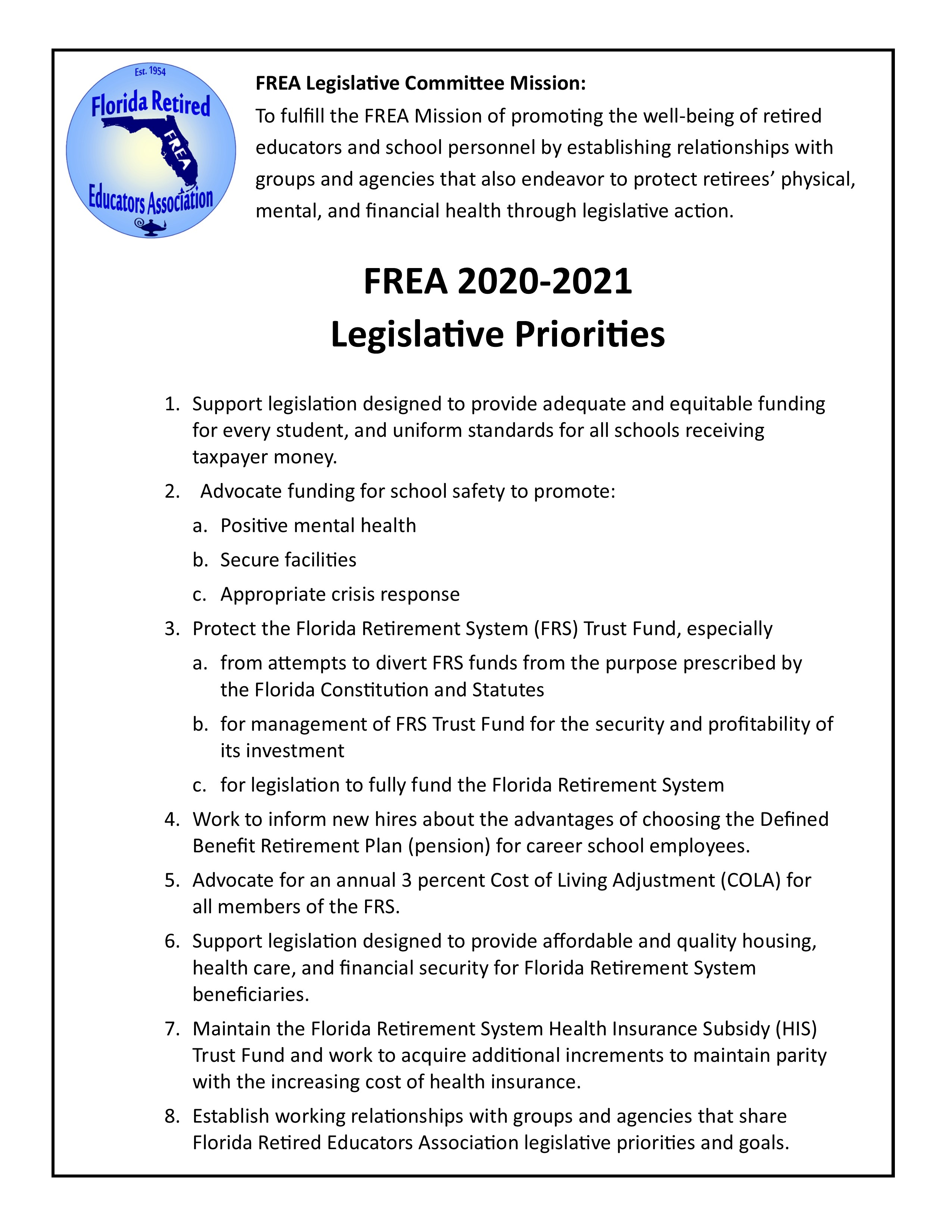 2020-2021 Legislative Priorities