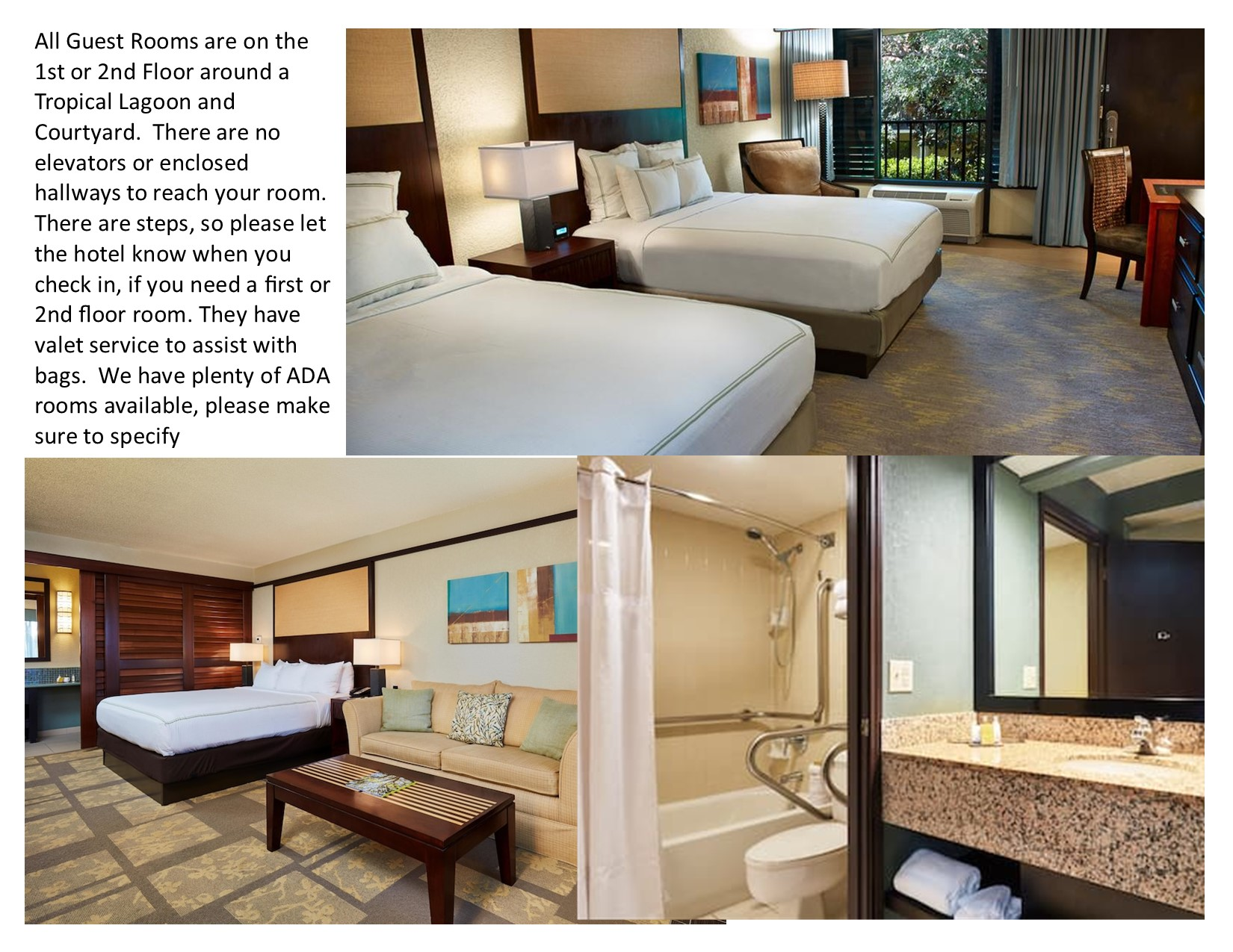 Updated Room info for hotel for website