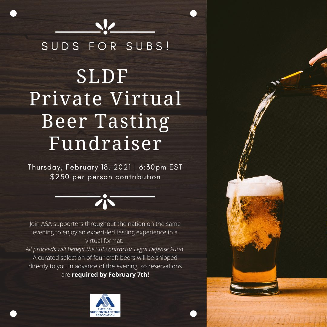 SLDF Private Virtual Beer Tasting Fundraiser