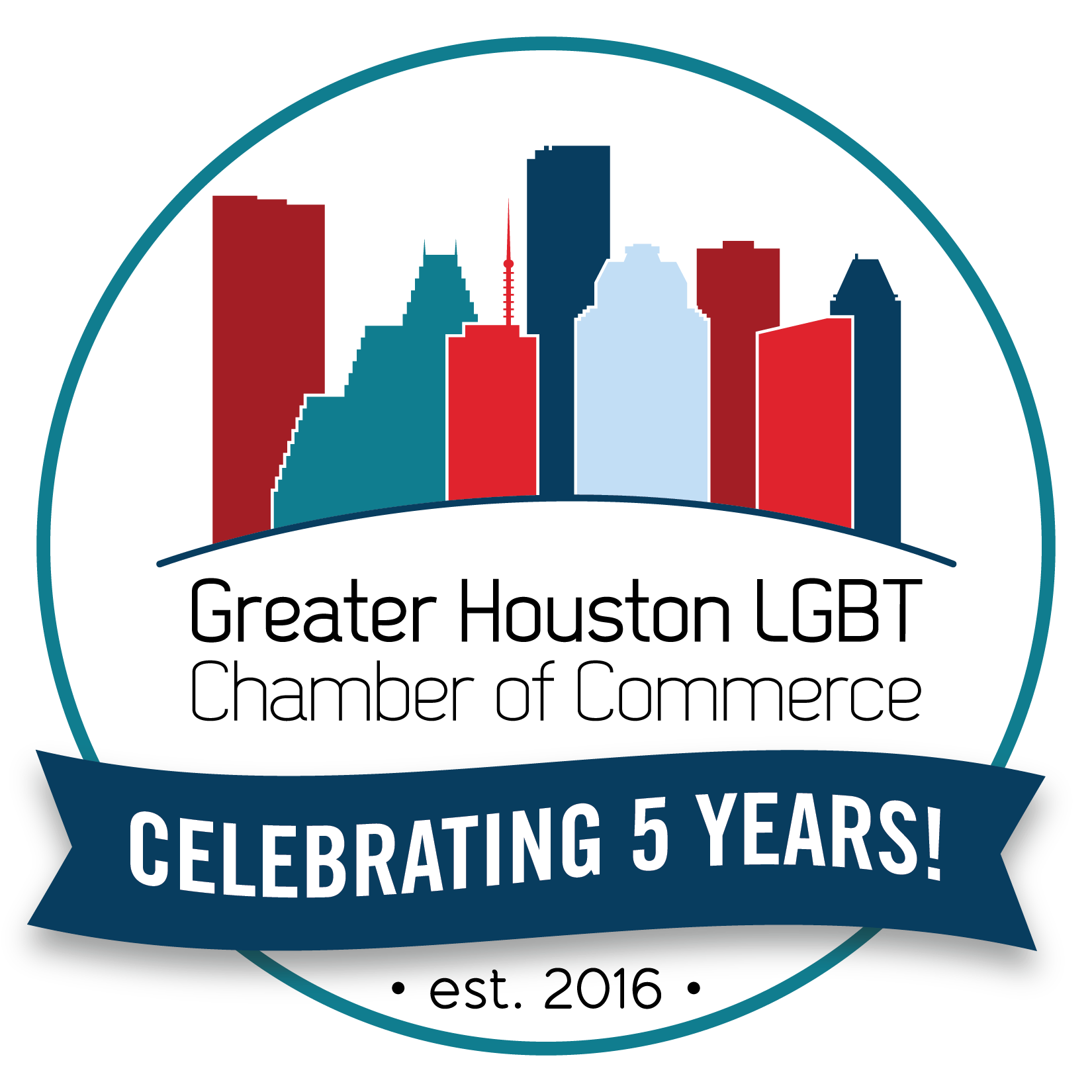 Chamber 5th Year Anniversary Logo