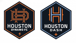 NEW Houston Dynamo-Dash logos no back