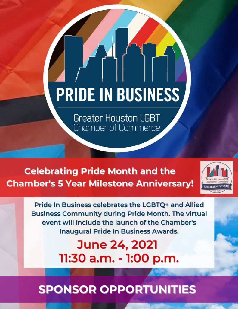 2021 Pride in Business Sponsor Packet Front Page