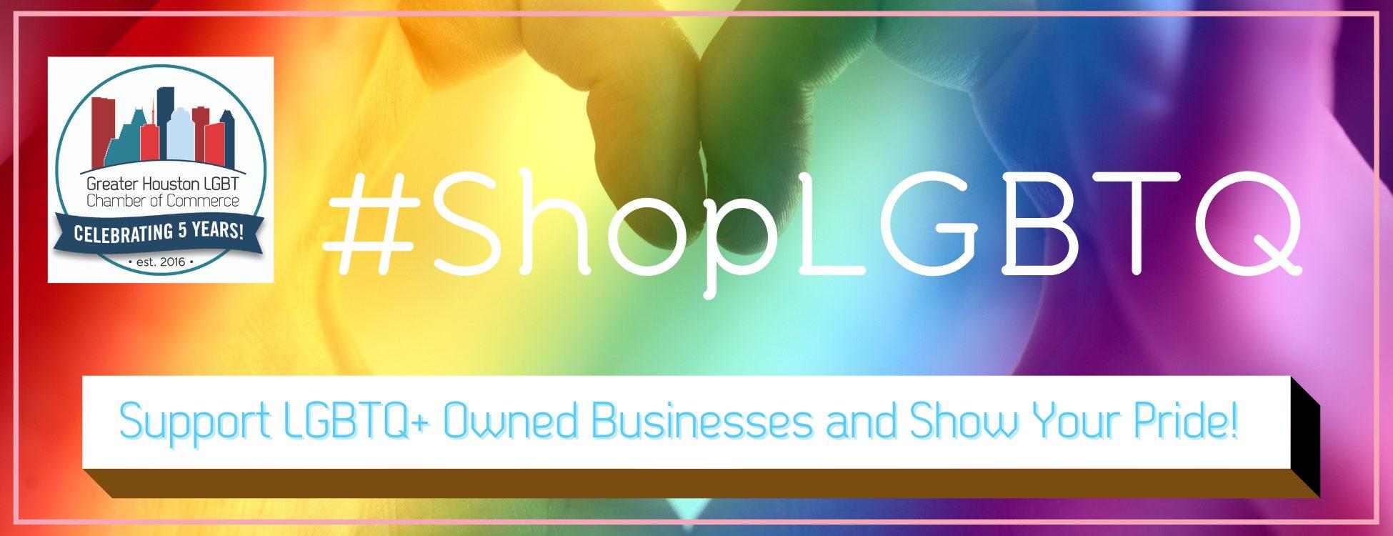 #ShopLGBTQ 5 year Logo - Webpage Header