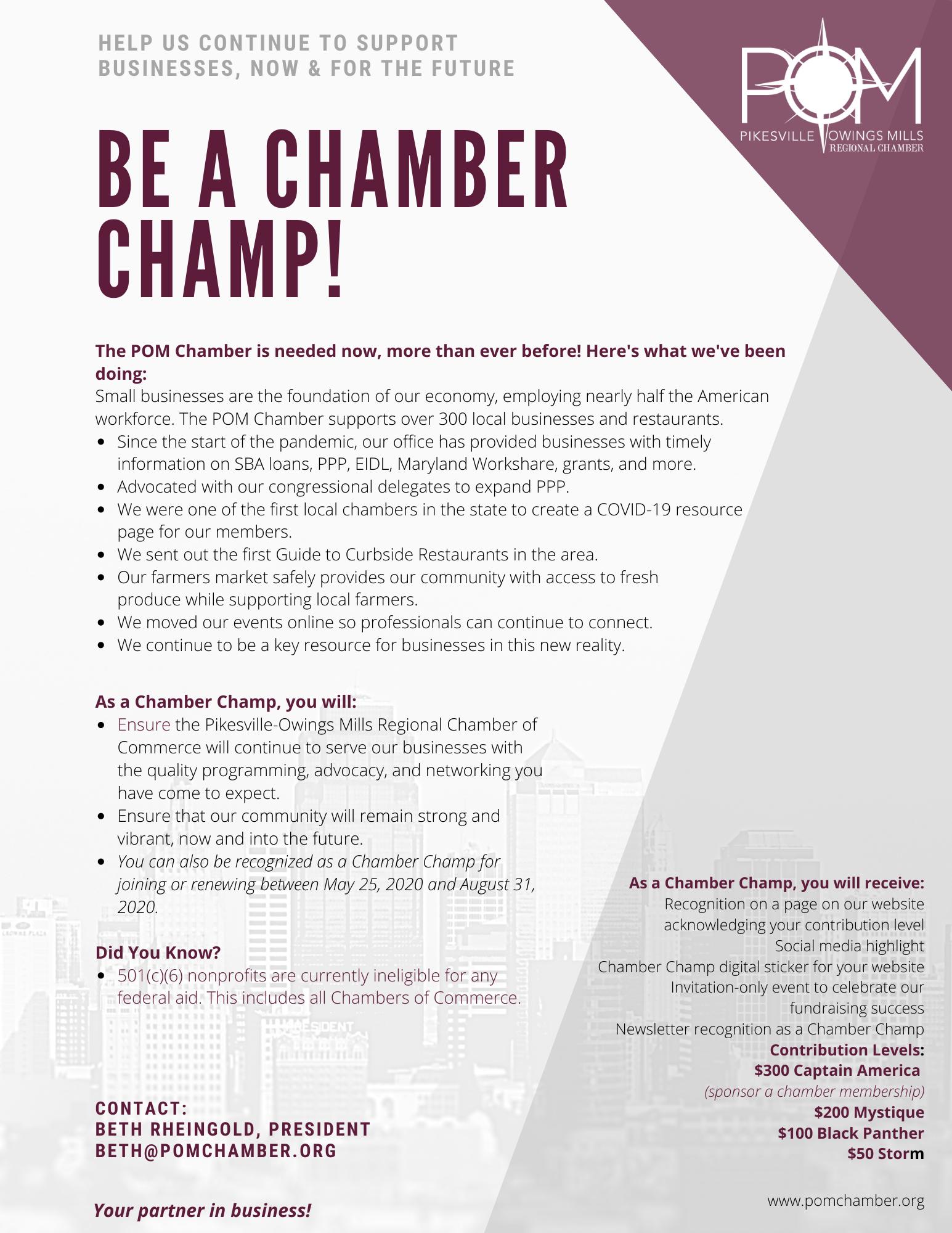 Chamber Champ Details FLyer