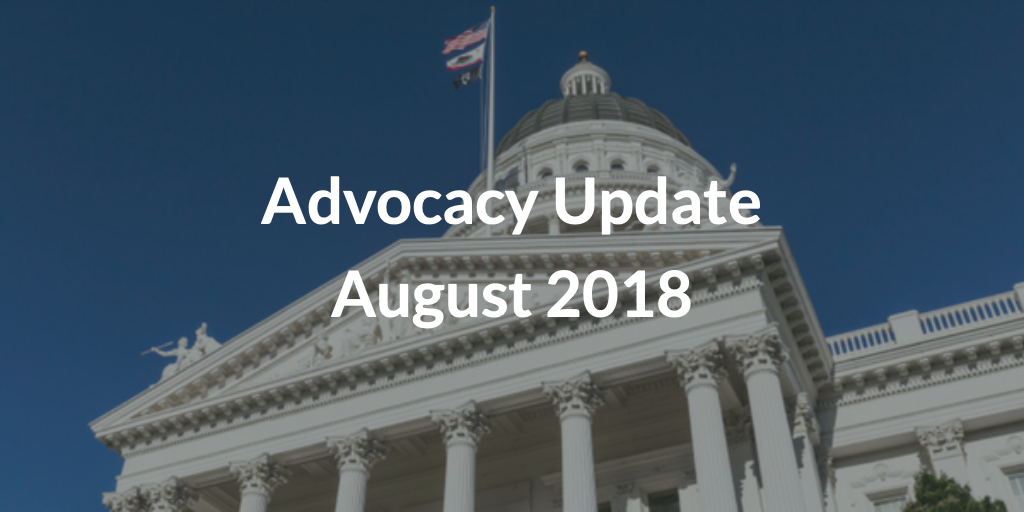 Advocacy Update August 2018