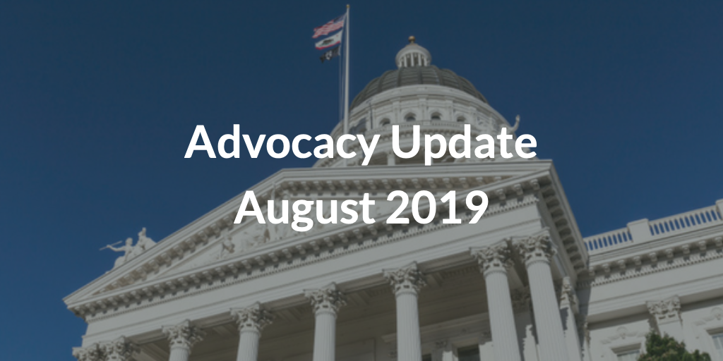 Advocacy Update August 2019