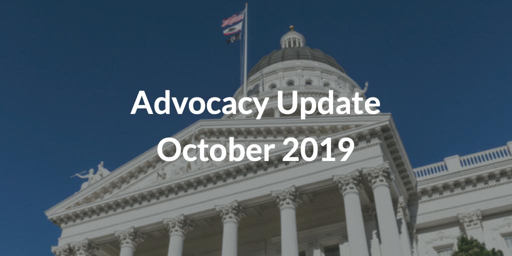 Advocacy Update October 2019
