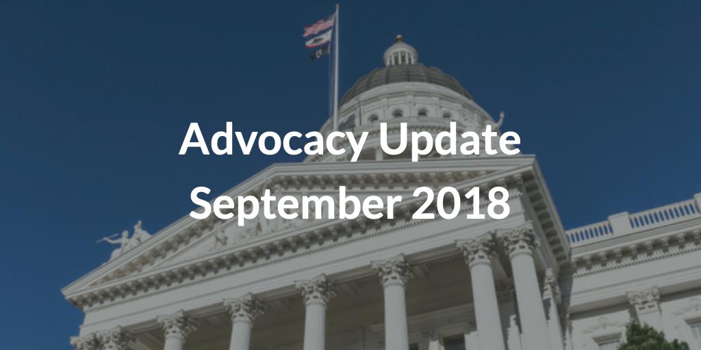 Advocacy Update September 2018