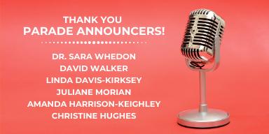 2019 Parade Announcers