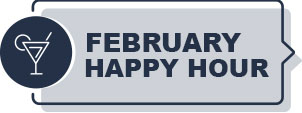 February Happy Hour Graphic