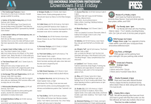 Anchorage Downtown First Friday March 2020 Events