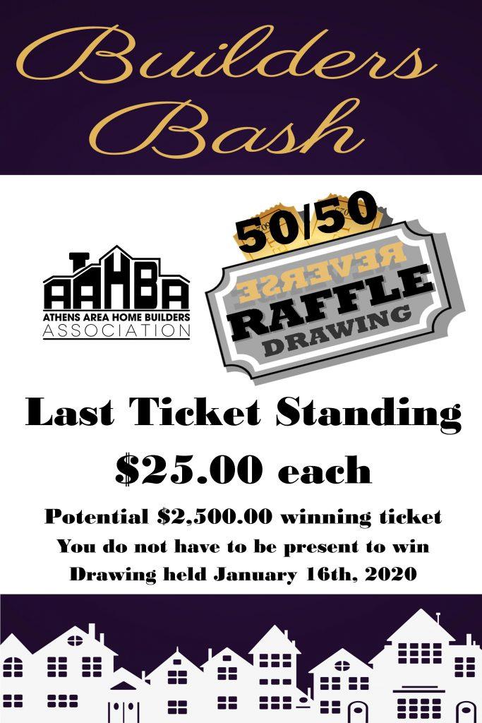 AAHBA Builders Bash Reverse Raffle Tickets Sign