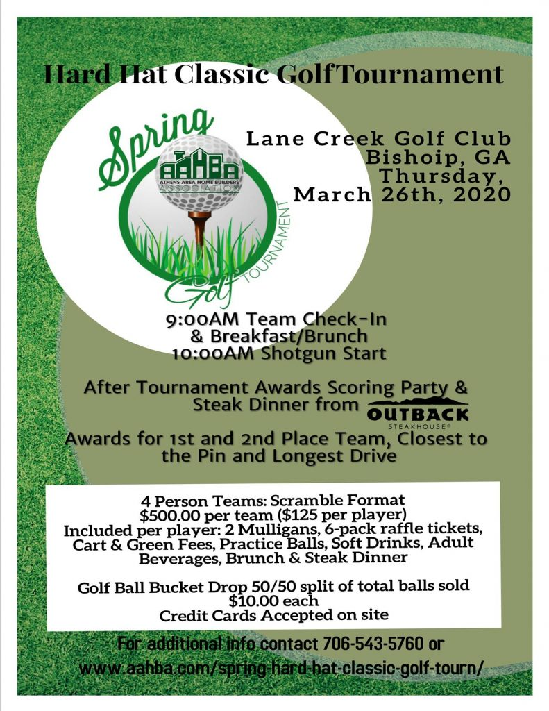 2020 Spring AAHBA Hard Hat Classic Info Flyer