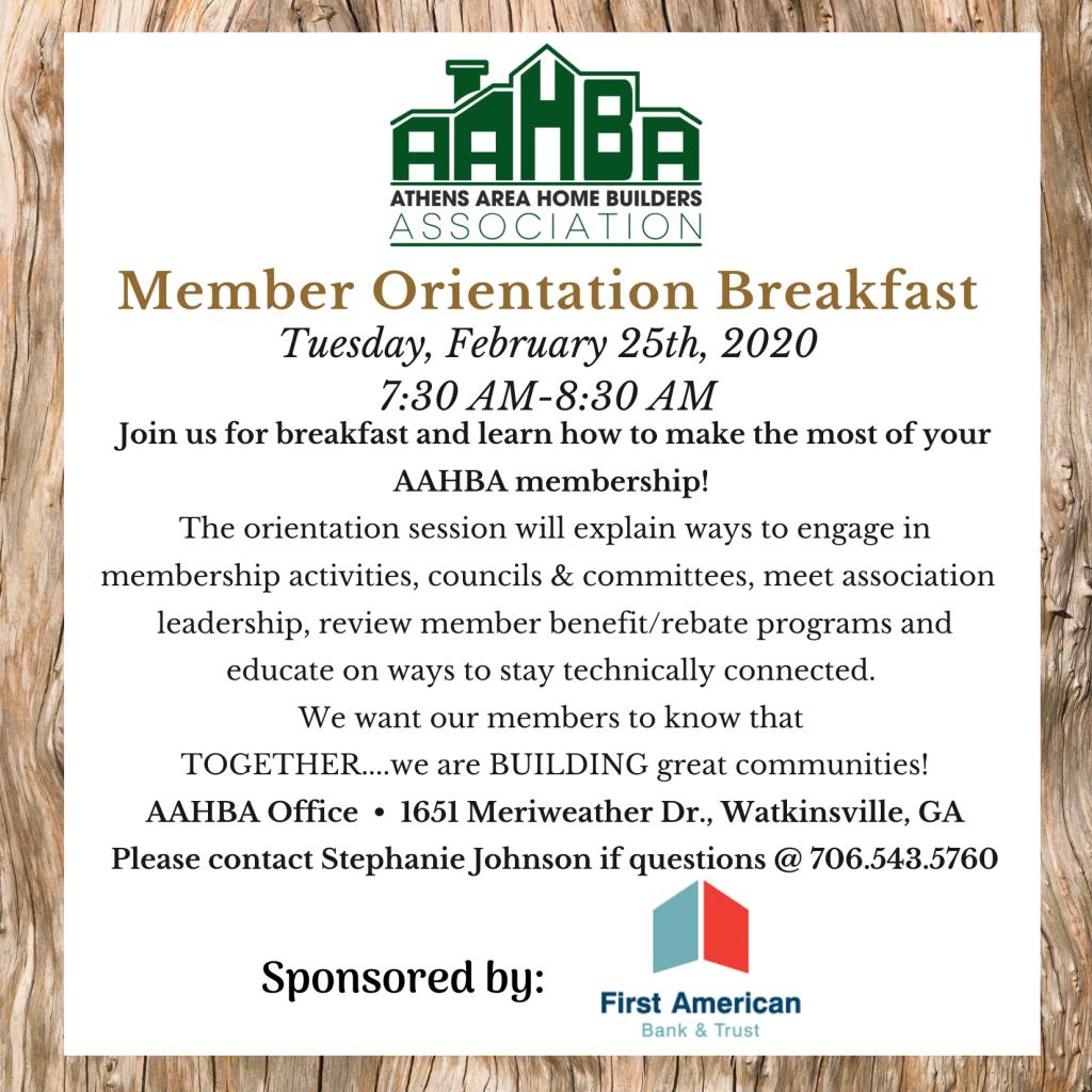 Member Orientation Breakfast Invite (2)