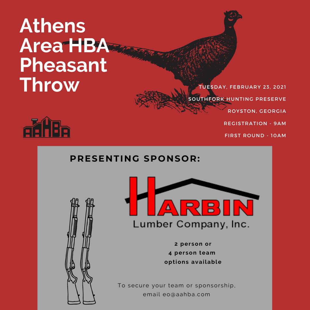 Copy of Athens Area HBA Pheasant Throw