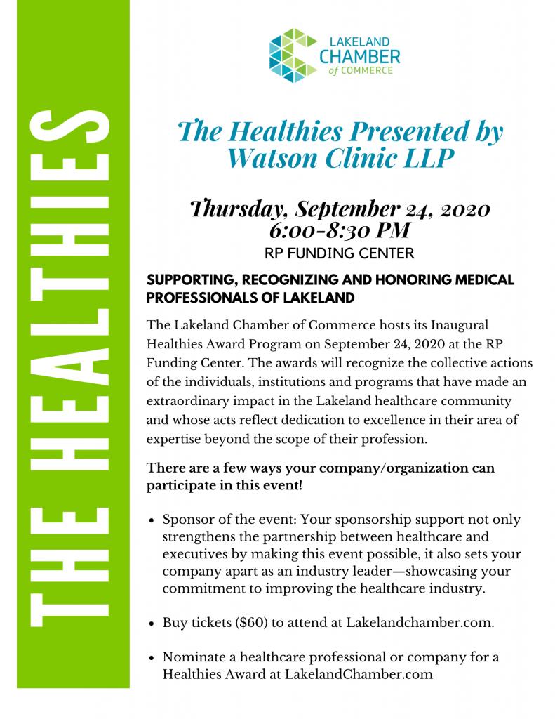 Healthies Sponsorship levels