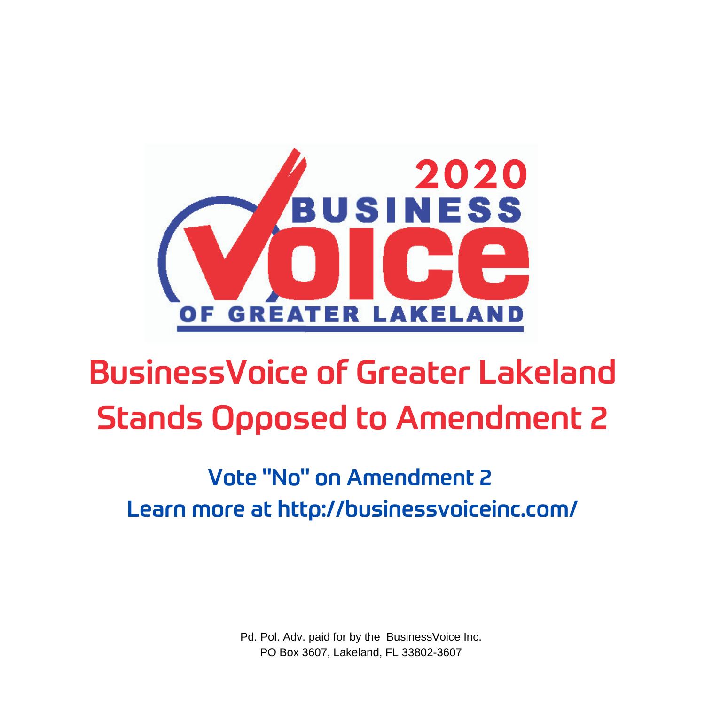 "Vote ""No"" on Amendment 2"