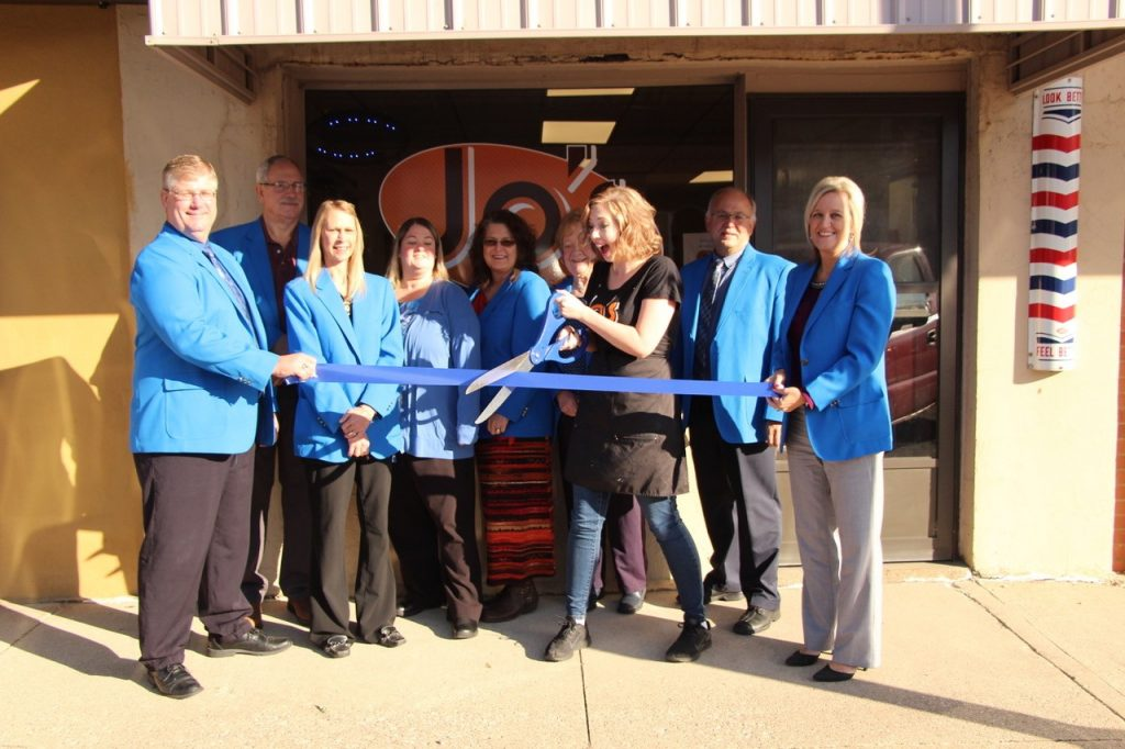 On October 17, Ogden Ambassadors along with owner, Olivia Smith of Jo's Haircuts celebrated the grand opening of the new store (237 W. Walnut Street) with a ribbon cutting.