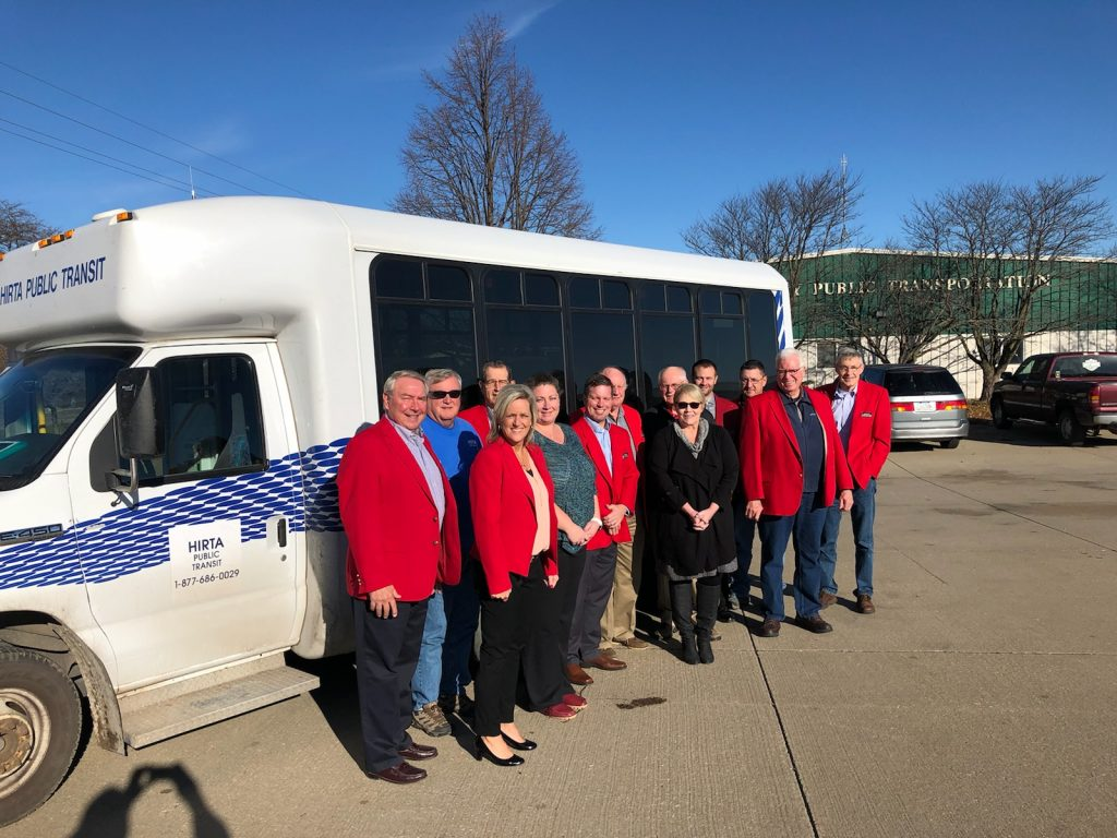 Chamber Ambassadors hosted a courtesy call on November 19,  at Hirta Public Transportation with Julia, Brooke & staff.