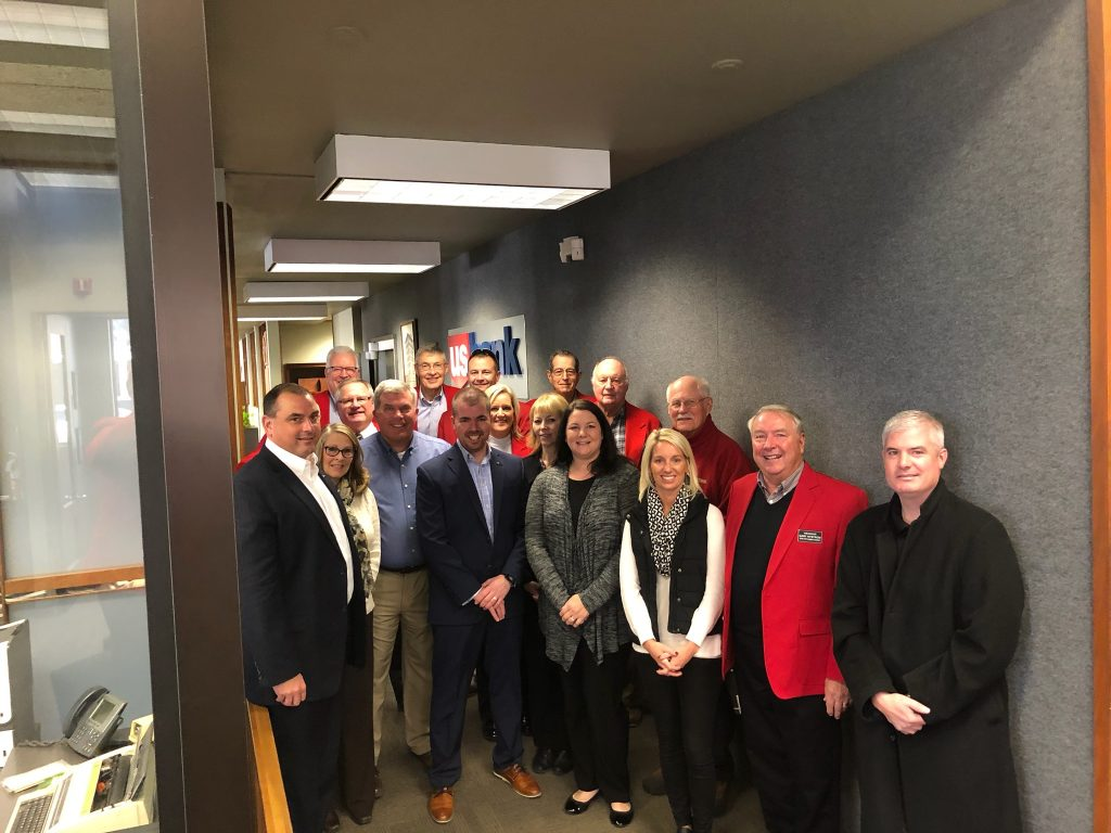 Chamber Ambassadors hosted a courtesy call with Doug Ragaller and staff of US Bank (724 Story Street) on November 12.