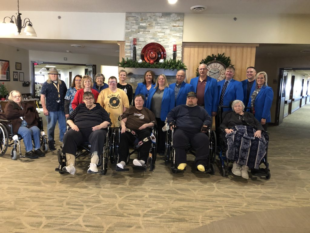 Ogden Ambassadors hosted a courtesy call on December 19,  at Accura Healthcare (625 East Oak) with Kayla Zellmer-Administrator, staff and residents.