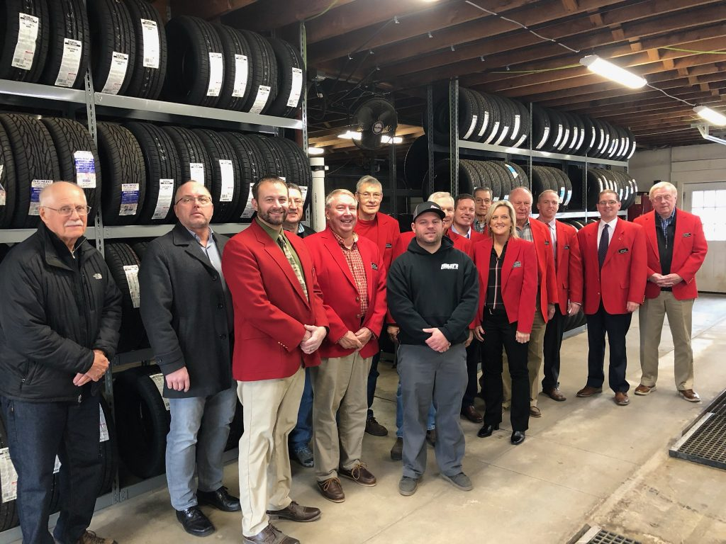 Chamber Ambassadors met with owner, Tony Cox for a courtesy call at Farley Wholesale Tires (901 W Mamie Eisenhower Avenue) on December 17.