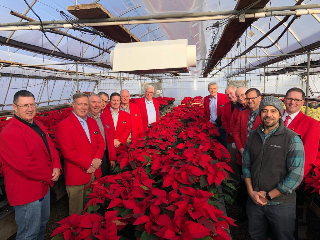 Chamber Ambassadors hosted a courtesy call with Mike Salama, owner of Salama Greenhouse on December 3.
