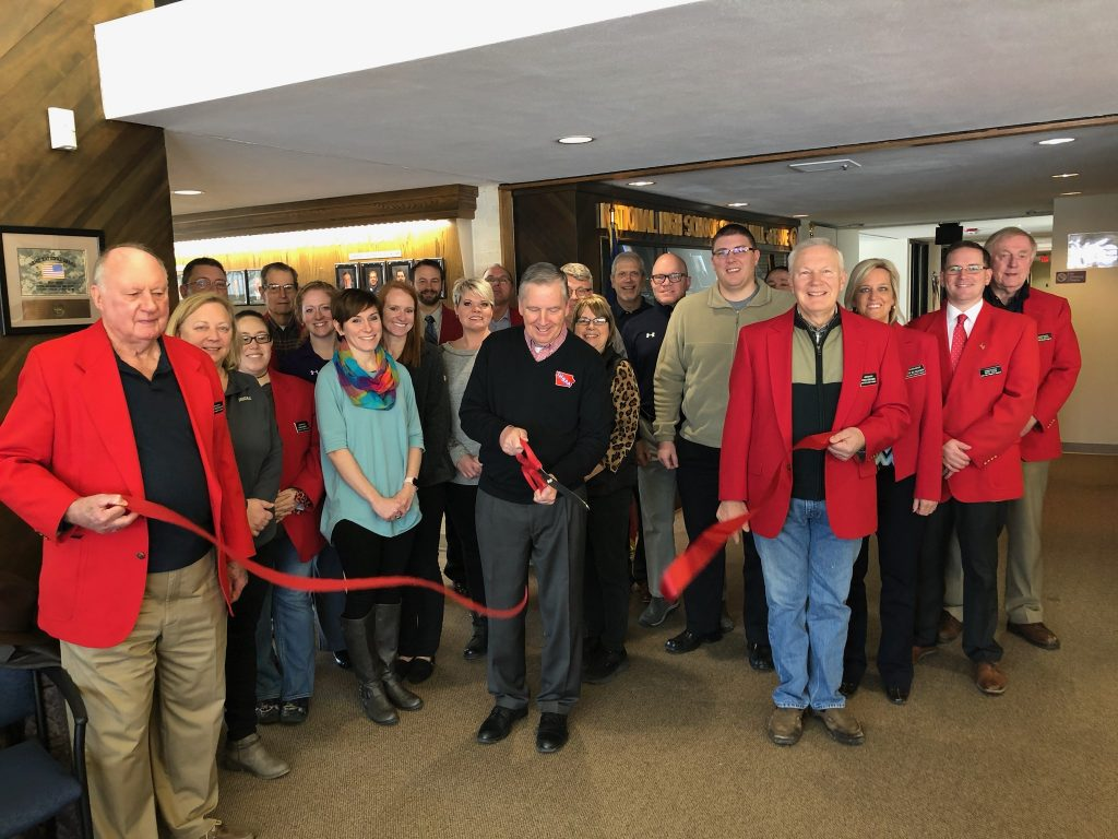 Chamber Ambassadors celebrated a ribbon cutting on January 21,  at Iowa High School Athletic Association (1605 S Story Street) with new Executive Director, Tom Keating and staff.