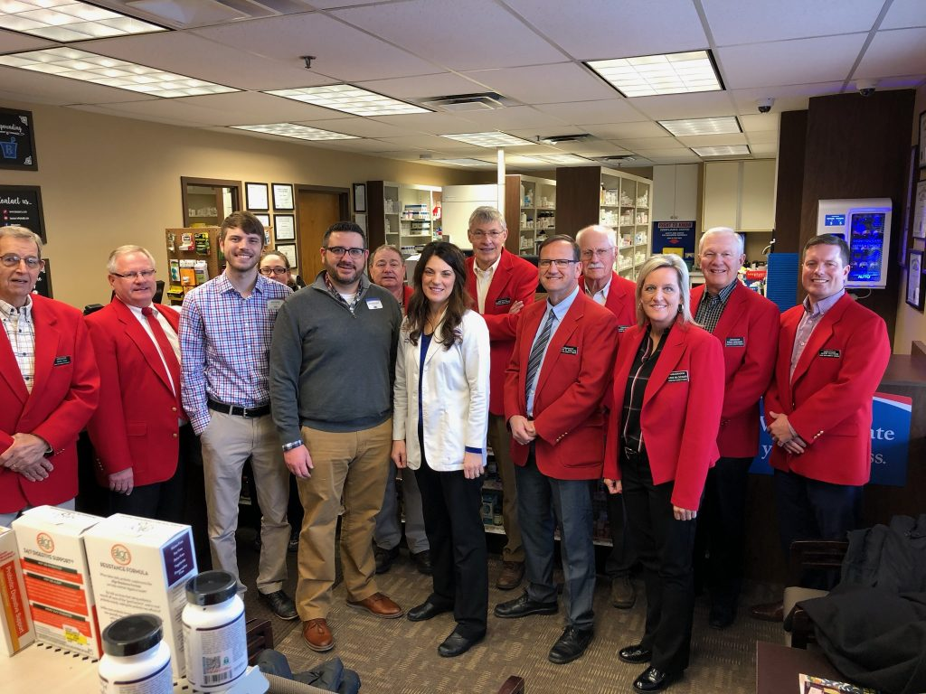 Chamber Ambassadors hosted a courtesy call with staff at Medical Associates Pharmacy (120 S Story Street, Suite C) on   January 7.