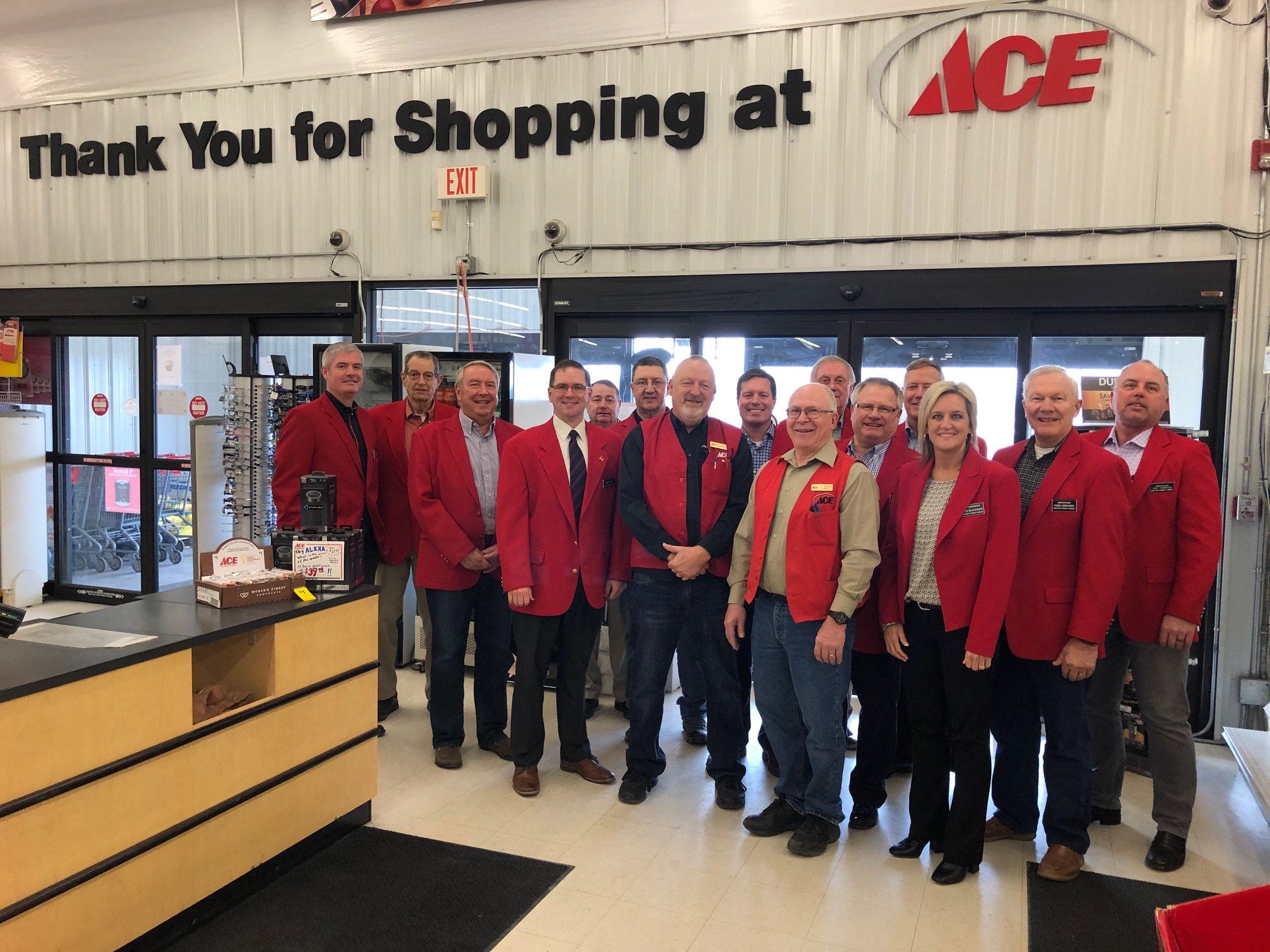 Chamber Ambassadors hosted a courtesy call with the staff of Ace Hardware (1735 SE Marshall Street) on February 4.