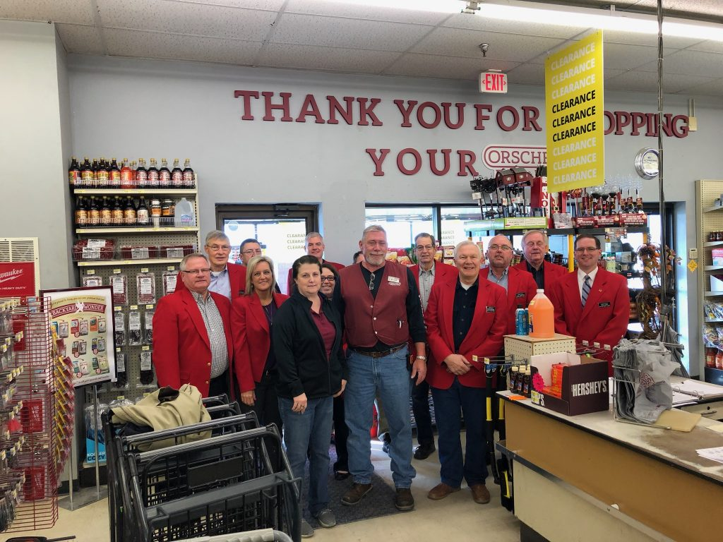 Chamber Ambassadors hosted a courtesy call with the staff of Orscheln Farm and Home (1125 SE Marshall Street) on February 18.