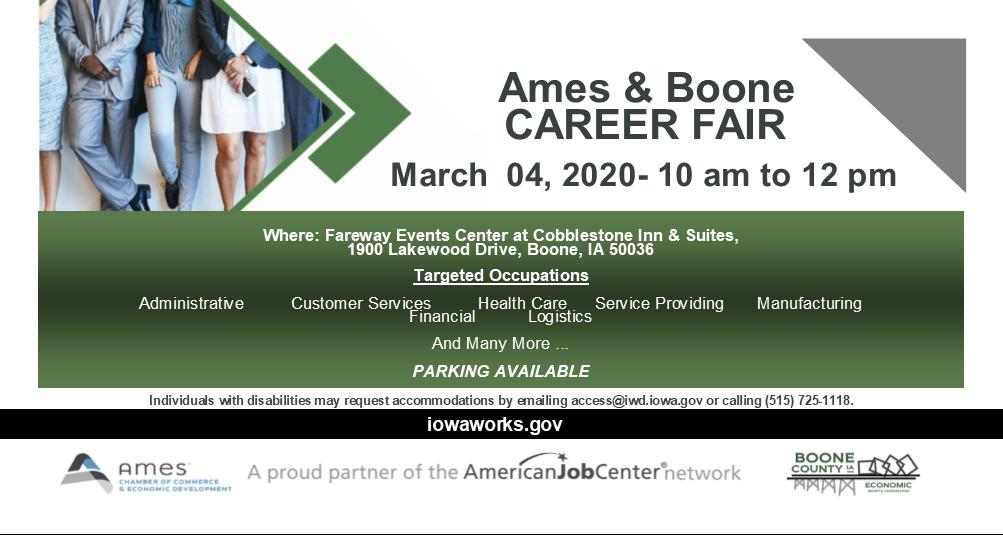 ames and boone job fair
