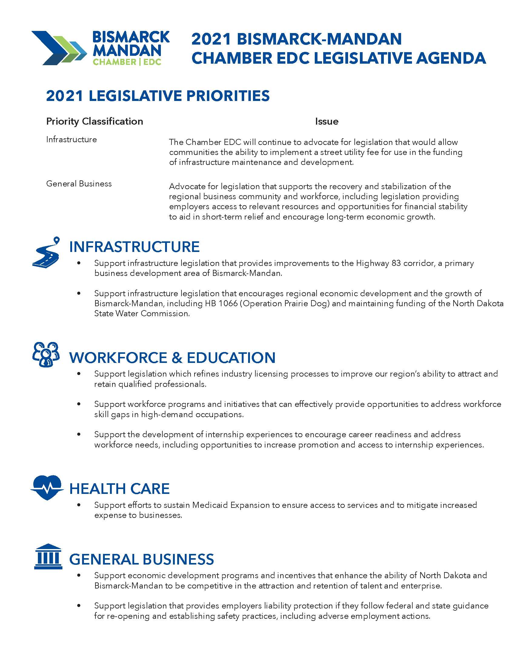 2021 Legislative Agenda