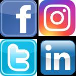 Social Media Logos in square