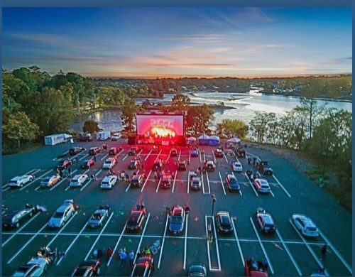 Drone shot of Drive in2