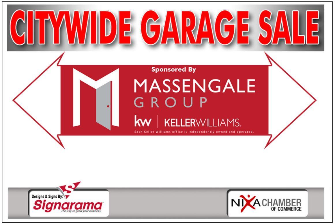 garage sale sign proof